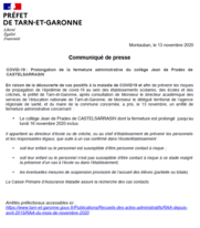 COVID-19 : Prolongation de la fermeture administrative