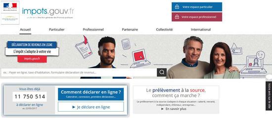 Rendez Vous Sur Impots Gouv Fr Declaration Des Revenus En Ligne
