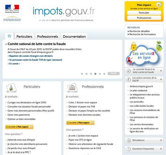 Payez Vos Impots Sur Internet 2015 Actualites Accueil Les